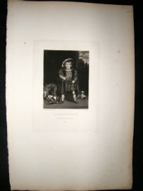 After Joshua Reynolds C1830 Folio Mezzotint. Master John Crewe, Children